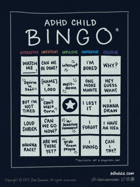 ADHD Child Bingo